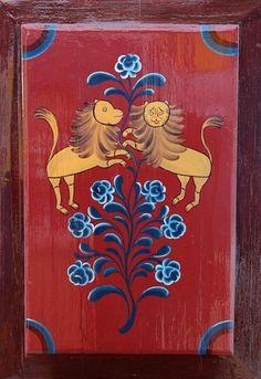 Урало-сибирская, Тюменская роспись (Дом Буркова)