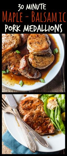 Thirty minutes is all you need to make these easy pork medallions. Try serving with crusty bread - you'll want to mop up every last drop of this maple-balsamic sauce!