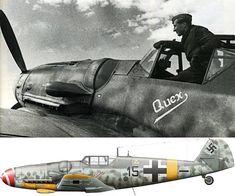 "Bf 109G-6 (W.Nr. 411777) «Quex"" 5./JG 52 of Walter Wolfrum, airfield Gromatikovo Crimea, March 1944."