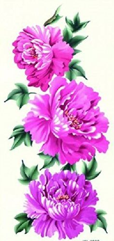 """Grashine new design temporary tattoo stickers Latest new design Beautiful and colorful purple and pink peony flowers waterproof and non toxic fake temp tattoo sticker for women. Tattoo size : 18.5CMx9CM(7.28""""""""x3.54"""""""").Extremely realistic temporary tattoos that look exactly like a real tattoos.\r\n. These temporary tattoos are 100% waterproof and long lasting...for up to 5 days, even while swimming & bathing.\r\n. Precut tattoos dab on with water in seconds, brush with your skin-toned face..."""