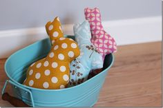 The Crafty Cupboard: Bunny Softies with Free Template
