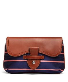 Brooks Brothers Small Stripe Clutch