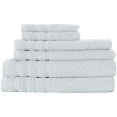 Dream Castle Cotton Indulgence 6 Piece Towel Set Color: Snow White