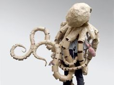 DIY Cardboard costume~octopus,