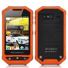 Range - 3.5 Inch Rugged Android Smartphone (IP53 Water Resistant, Shockproof, Dust Proof, Orange)