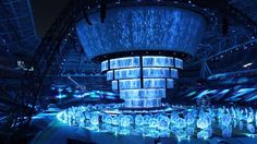 Kazan, Universiade 2013: ''Water'' - Казань, Универсиада 2013: ''Вода'' Stage Curtains, Light Project, Animation, Map, Film, Architecture, World, Building, Water