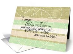 The World's Best Dad Belongs to me Father's Day Greeting card by Eugenia Bacon