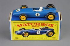 B.R.M. Racing Car #52 Matchbox Lesney