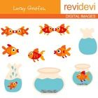 Goldfish clipart set features fish and aquarium graphics. There are 9 images in this set.  These cliparts are great for teachers and educators for ...