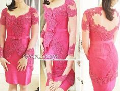 Model Vera Kebaya Dress Pendek Lengan Panjang