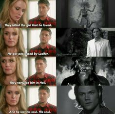 Jensen deserves awards for these kind of scenes. We all know he's gorgeous and thst us a mighty fibe bonus but I'm not a Jensen fan because he's pretty to look at. I'm a fan because of incredible performances such as this and when he forgot who he was and many other award winning scenes he has performed. I love all the actors in this show they are all amazing but Jensen in my opinion just goes above and beyond and makes you feel every small feeling Dean feels and that to me puts him above…