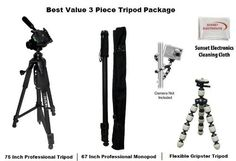 3 Piece Best Value Tripod Package For The Canon VIXIA HF S10 S11 S100 HF20, VIXIA HF200 HF20 HV40 HV30 HV20, DC50 DC230 DC220 DC210, DC22 DC40 ZR850 ZR830, ZR90 ZR85 ZR80 ZR70MC ZR65MC Camcorders Includes 1 professional 75 Inch Tripod With Carrying Case, 1 Professional 67 Inch Monopod, 1 Extra Flexible Double Joint Gripster Tripod - http://slrscameras.everythingreviews.net/11680/3-piece-best-value-tripod-package-for-the-canon-vixia-hf-s10-s11-s100-hf20-vixia-hf200-hf20-hv40-h
