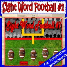 Who else loves Sunday night football? Now you can share the love of football with your students. Play this fun game on your interactive whiteboard or laptop. Students will learn fry sight words too. Link in profile. #earlycorelearning