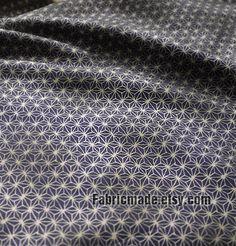 Japanese Vintage Fabric Cotton Fabric Kimono Fabric by fabricmade, $5.80