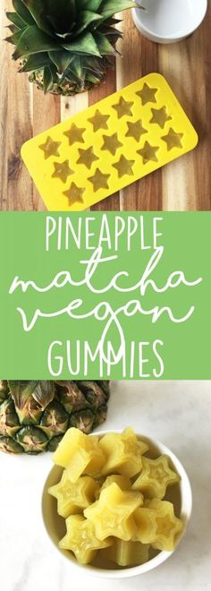 Staggering Diabetes Breakfast Eggless Ideas Pineapple Matcha Vegan Gummies made with agar powder. This is a healthy gummy recipe with no added sugar! Delicious as a little pick-me-up snack. Vegan Candies, Vegan Treats, Vegan Foods, Vegan Snacks, Vegan Recipes, Snack Recipes, Healthy Sweets, Healthy Snacks, Easy Snacks