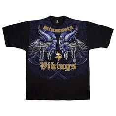 Official Licensed NFL Minnesota Vikings Face Off Team Apparel Shirt 3b65f90cb