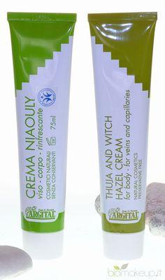 Crema di Thuja e Hamamelis, appositamente indicata per proteggere le vene ed i capillari e la crema Niaouly per viso e corpo.