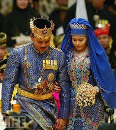 Princess Sarah Salleh of Brunei Wedding Brunei, Outfit Designer, Royal Brides, Royal Weddings, Diana Spencer, Charlotte Casiraghi, Grace Kelly, Bandar Seri Begawan, Royals