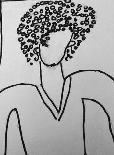Lady pen sketch 2