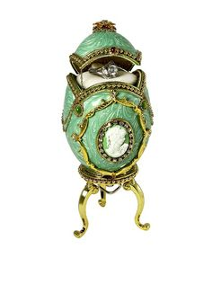 Kingspoint Designs Hand Painted Egg Musical Box Adorned with Crystals, Mint Green, http://www.myhabit.com/redirect/ref=qd_sw_dp_pi_li?url=http%3A%2F%2Fwww.myhabit.com%2Fdp%2FB00ITJ6ZKS