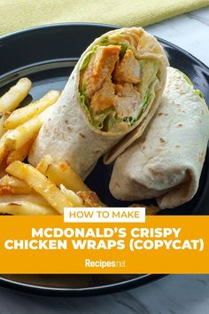 25 mins. · Serves 4 · Simple, hearty, and delicious! With its crunchy breaded chicken tenders, paired with fresh tomatoes and lettuce, cheese, and dressing, this McDonald's Crispy Chicken Wraps recipe (Copycat) will definitely amp up your snack game. Learn how to make it for lunch here. #Recipes #Food #Crave #Tasty #Yummy #Delicious #FoodTrip #FoodLover #Recipes.net #foodporn #Cook #Cooking #Foodie #foodblog #homemade #lunchideas #lunchrecipe Crispy Chicken Wraps, Chicken Wrap Recipes, Mcdonalds Chicken, Breaded Chicken Tenders, Tasty Dishes, Lunch Recipes, Main Dishes, Food Porn, Easy Meals