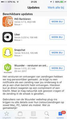 Wuunder heeft een nieuwe release!Check de App of Play store.