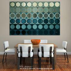 Circles and Squares Art   Circles and Squares 40   Modern Abstract Painting