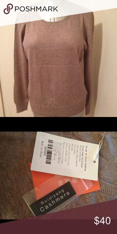 Very Soft Cashmere M-L-XL Camel color, Pullover O neck Cashmere wool blend, knitted sweater. Very soft. Ruidiyang Sweaters