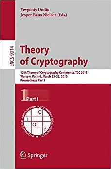 Theory of Cryptography, Part I