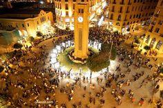 Beirut, Lebanon. Place De L'Etoile in the evening