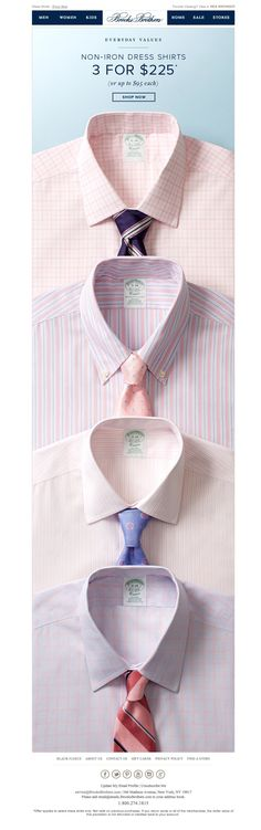 #newsletter Brooks Brothers 05.2014 3 for $225 Non-Iron Dress Shirts