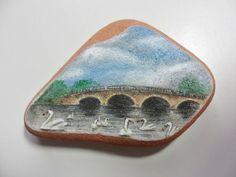 Swan river  Miniature art on English sea by Alienstoatdesigns, $35.00