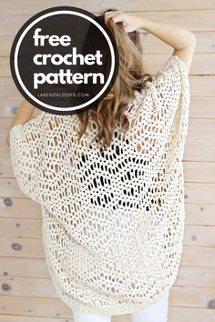 Gilet Crochet, Crochet Cardigan Pattern, Crochet Jacket, Crochet Scarves, Crochet Shawl, Crochet Clothes, Crochet Stitches, Knit Crochet, Crochet Sweaters