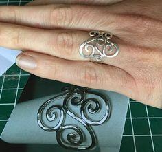 Zilveren draad ring