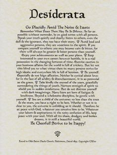 1000 ideas about desiderata poem on pinterest poems inspirational