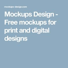 Mockups Design - Free mockups for print and digital designs