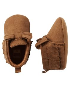 Baby Girl Carter's Moccasin Crib Shoes | Carters.com