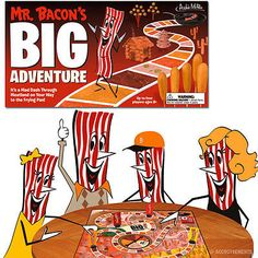 Mr. Bacon's Big Adventure Board Game Smoked Meat Lovers Pork Family Fun Gag Gift
