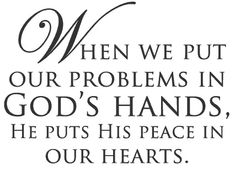 And the God of peace will be with you