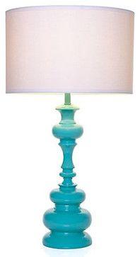 Mariposa Table Lamp - Aquamarine - modern - table lamps - Z Gallerie