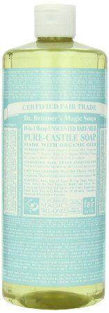 Amazon.com: Castile Liquid Soap-Baby Mild (Organic) Dr. Bronner's 32 oz Liquid: Beauty