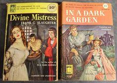 Lot X 2 Perma Books Frank Slaughter Divine Mistress In a Dark Garden Vintage PB