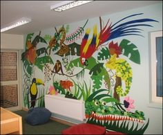 Lakefield C of E Primary School, Frampton-on-Severn, Gloucestershire. School Website | Library Mural