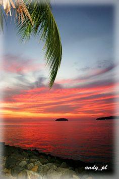 Beautiful sunset - Sabah, Borneo, Malaysia