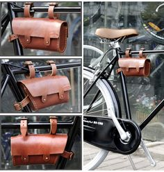 Vintage Fixie Fixed Gear Bike Leather Tube Bag