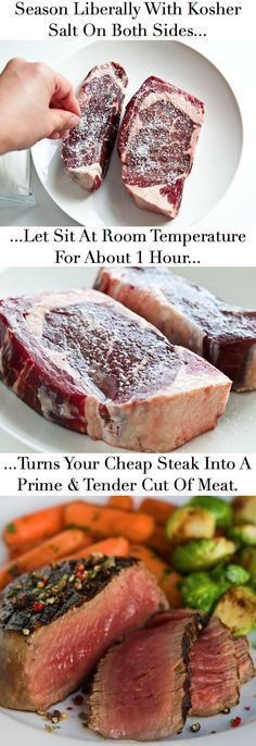 Really works..... they leave out to rinse ur steak and pat dry prior to cooking