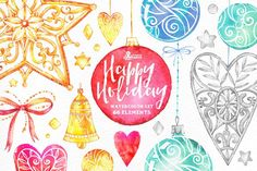 Happy Holiday by OctopusArtis on @creativemarket