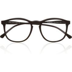 Illesteva Hudson Optical round-frame matte-acetate glasses (11.935 RUB) ❤ liked on Polyvore featuring accessories, eyewear, eyeglasses, glasses, sunglasses, fillers, black, opticals, illesteva eyewear and acetate glasses