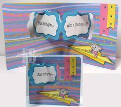 Frances Byrne using the Pop it Ups Katie Label Pivot Card die set by Karen Burniston for Elizabeth Craft Designs. - Just Flying By