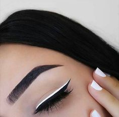 Eyeliner, black, white, inspirations
